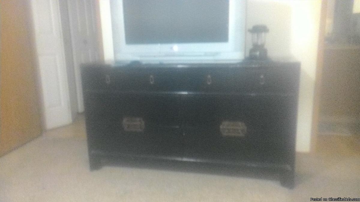 antique black asian style dresser
