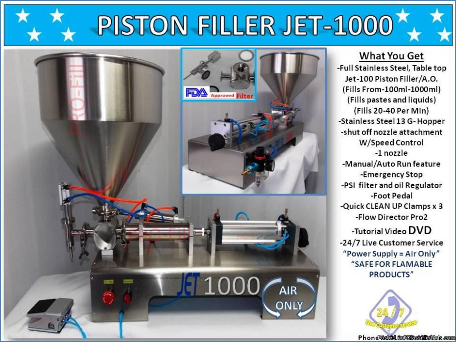 Piston Filler Single Head A/O JET-1000 Perfume Non-Flammable Fills...