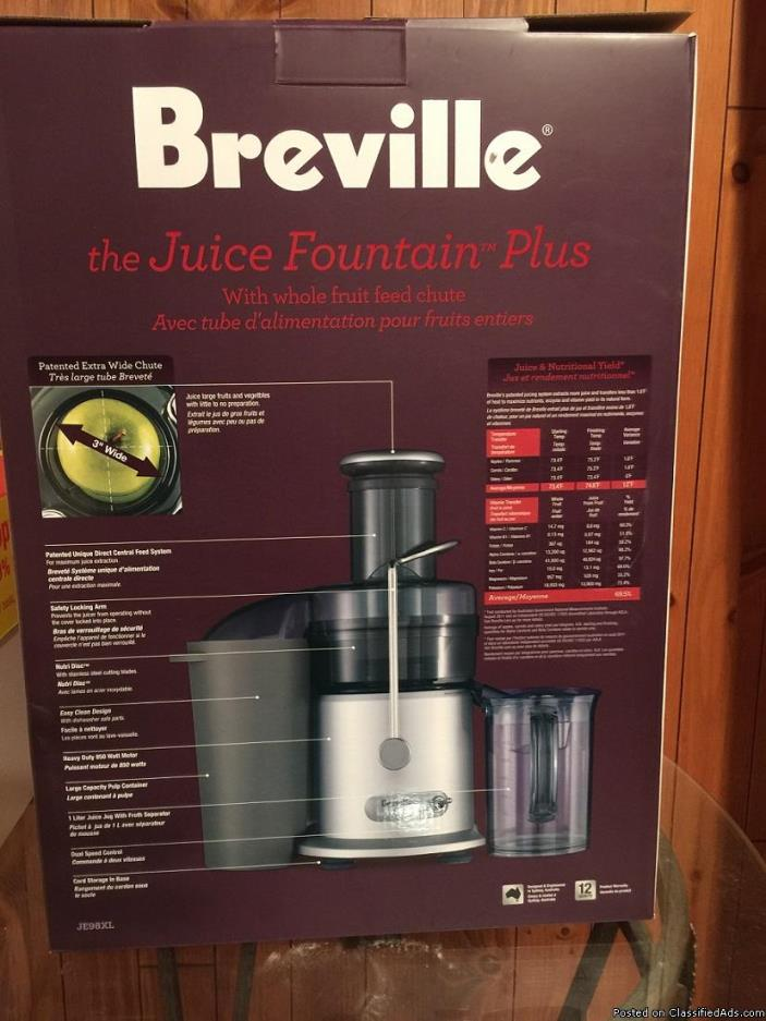 Breville Juicer 850WATT  used once