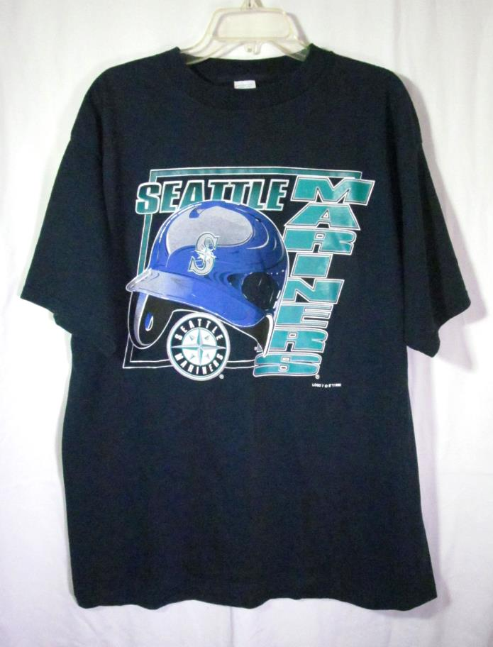 Logo 7 Men's T-Shirt Seattle Mariners Size XL Blue 100% Cotton