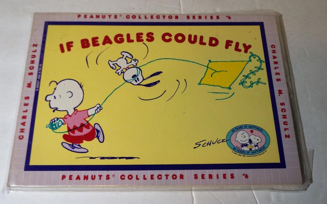 If Beagles Could Fly by Charles M. Schulz (1990, Paperback) PEANUTS COLLECTOR #6