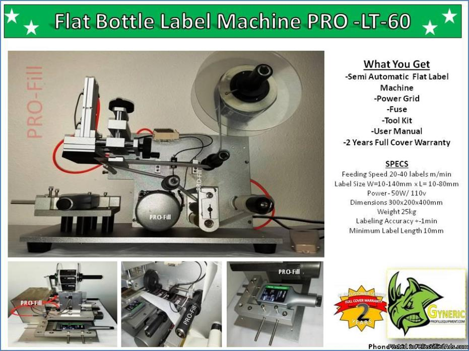 Flat Bottle Machine PRO-LT-60/ Generic Brand
