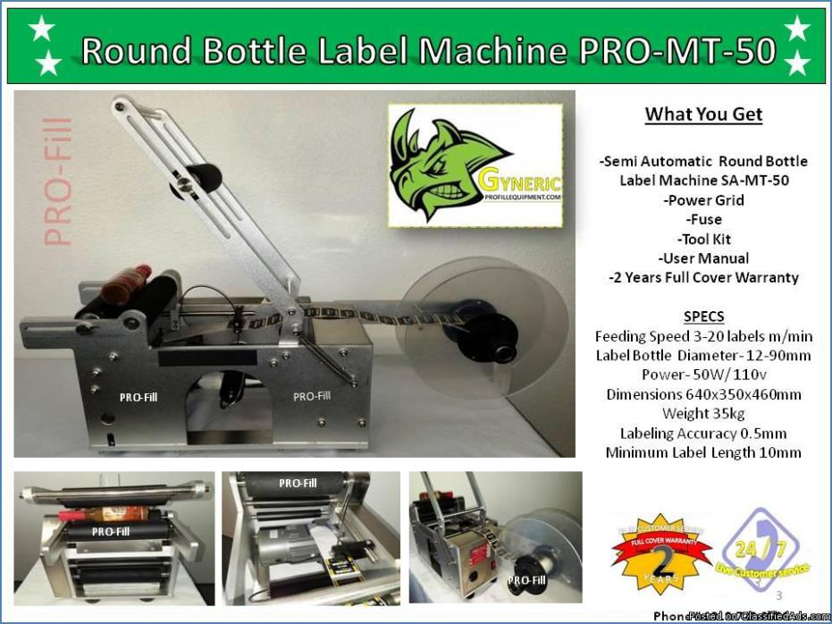 Round Bottle Machine PRO-MT-50/ Generic Brand