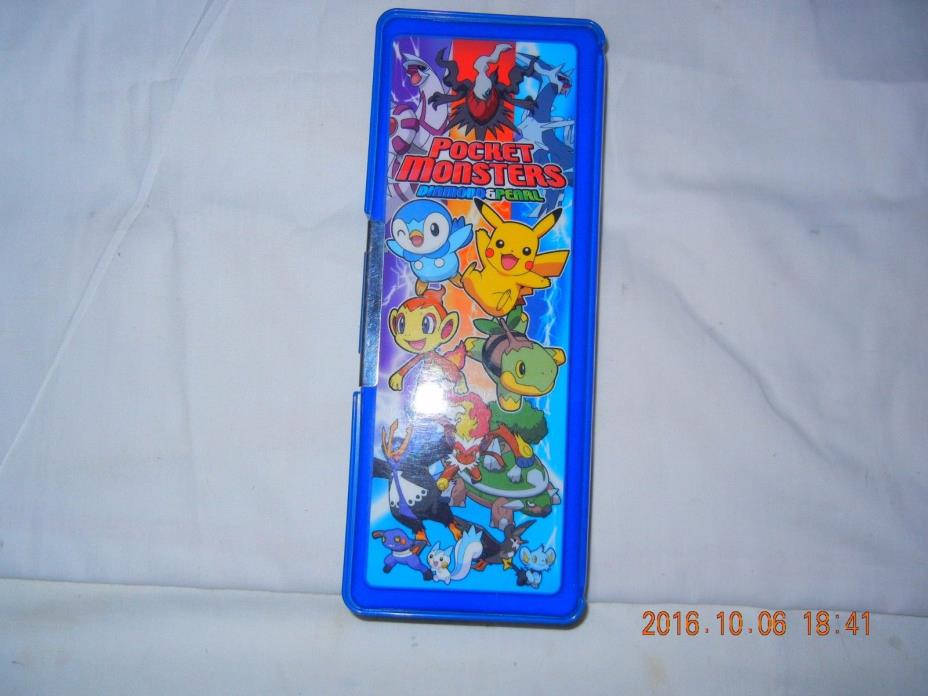 Pokemon Magnetic Pencil Case Pocket Monsters Nintendo DIAMOND PEARL