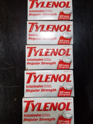 Tylenol  Regular strength 100 Tablets  (Pack of 5)