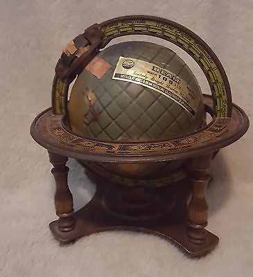 JIM BEAM 1980 GLOBE ATLAS WORLD DECANTER EMPTY