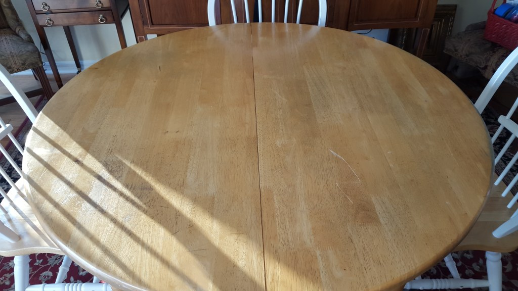 Dining Set White/Naatural Wood