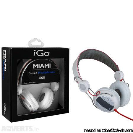 MIAMI STEREO HEADPHONES FOR ONLY $14.99!!!!