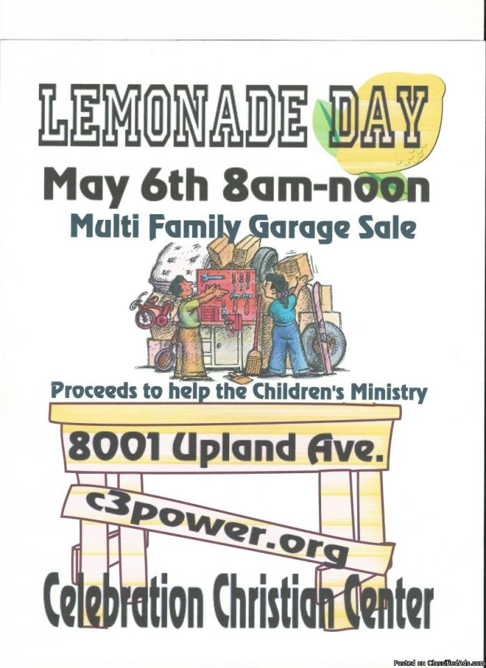 Giant Garage Sale and Lemonade Day