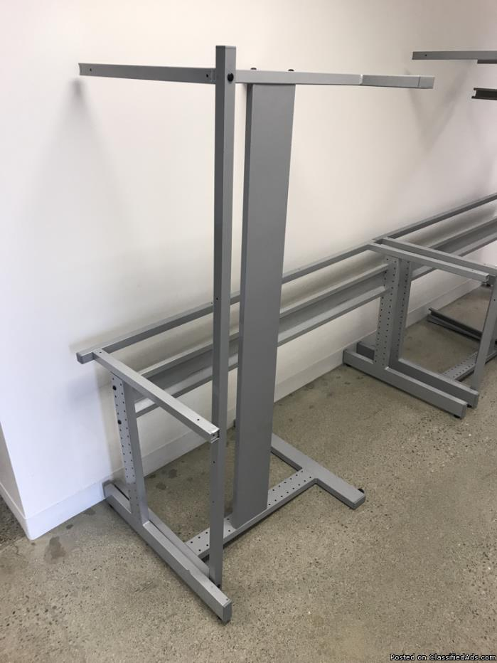 Metal desk frames