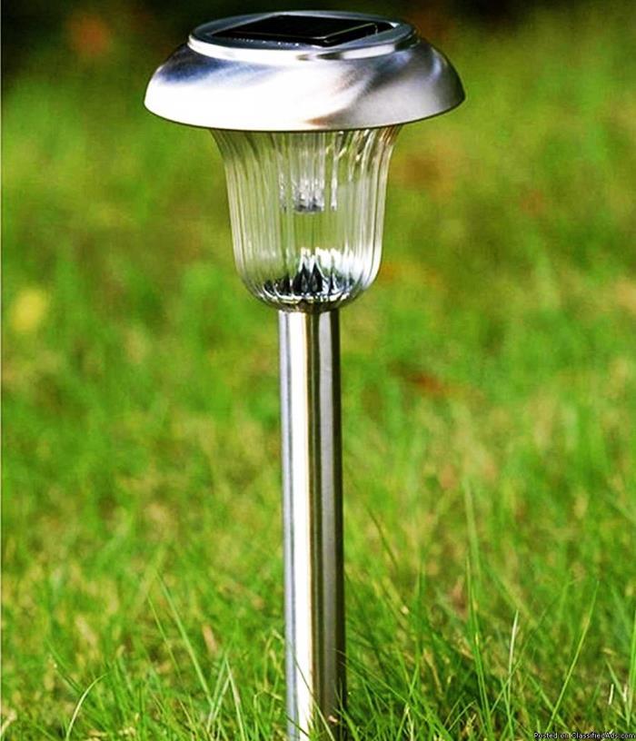 4pck Stainless Steel Solar Lights