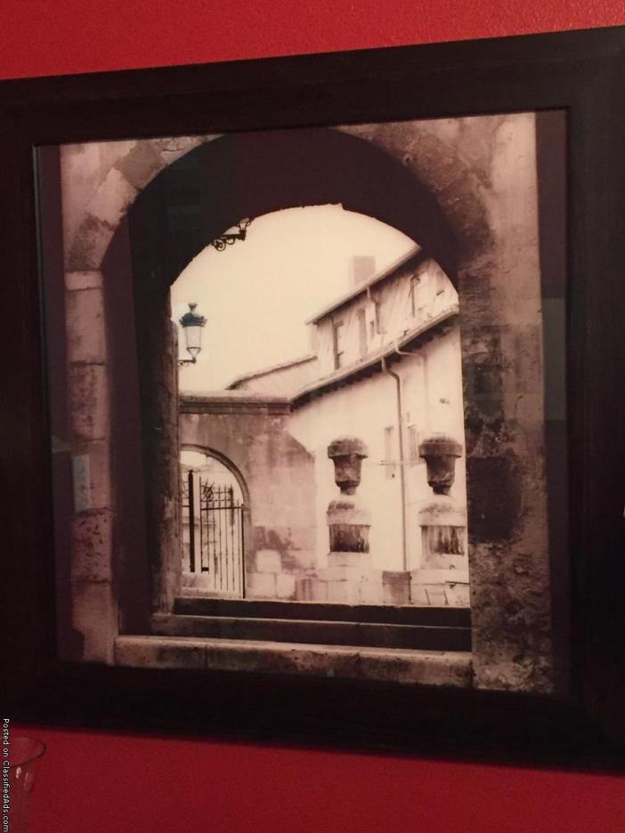 Set of 3 Framed Italian Photographs
