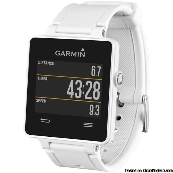 GARMIN 010-01297-11 vivoactive(TM) Smartwatch Bundle (White)