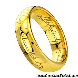 Titanium Lord of the Rings Bands Woman Man Goth/Magic/Gift