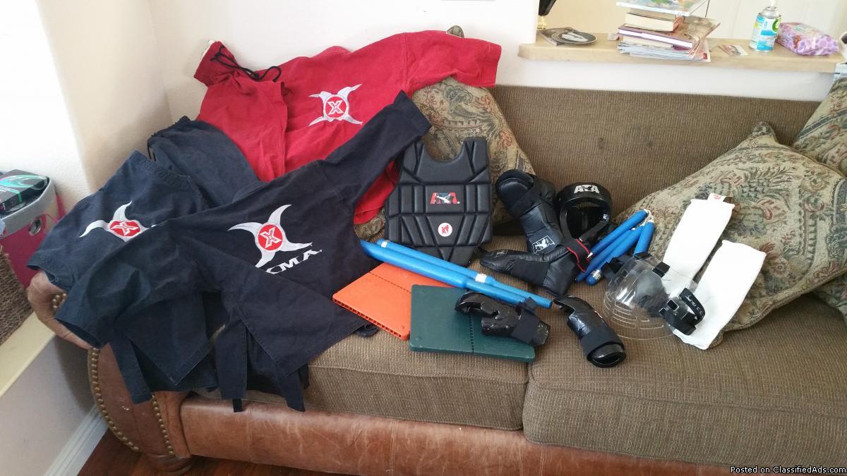 XMA Gi (2) & sparring gear