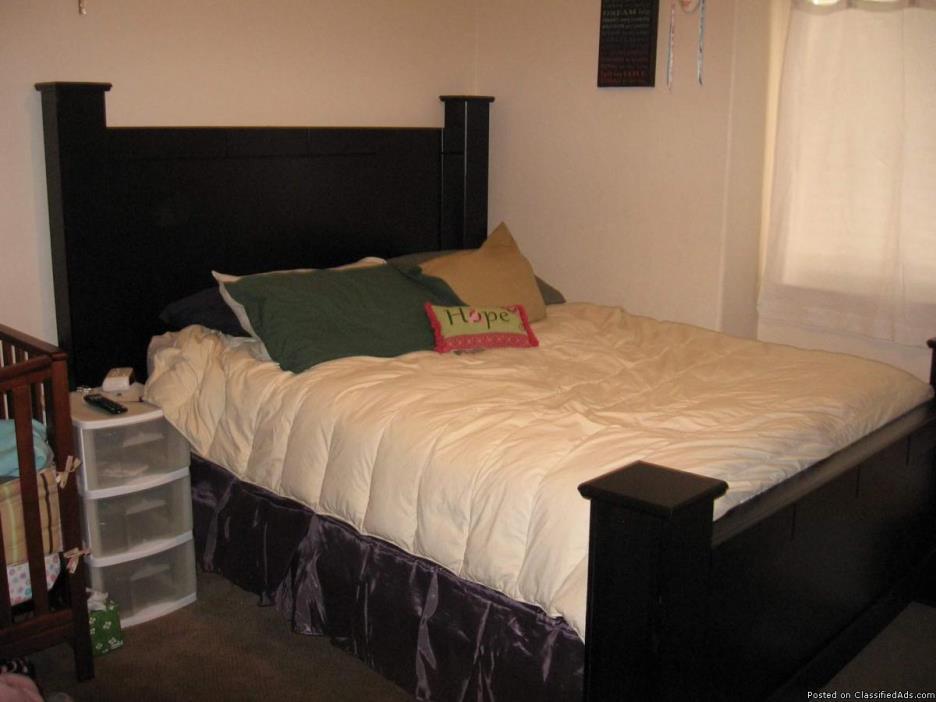 Black bed frame (head & foot board set)
