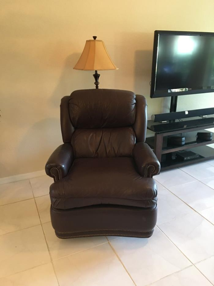 Thomasville, swivel, rocker all leather recliner