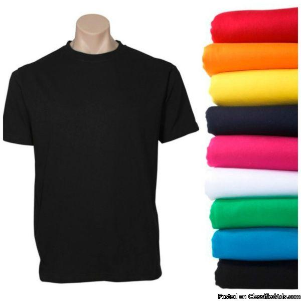 2-3 Color Custom Printed Silkscreen T-shirts 2 Sided