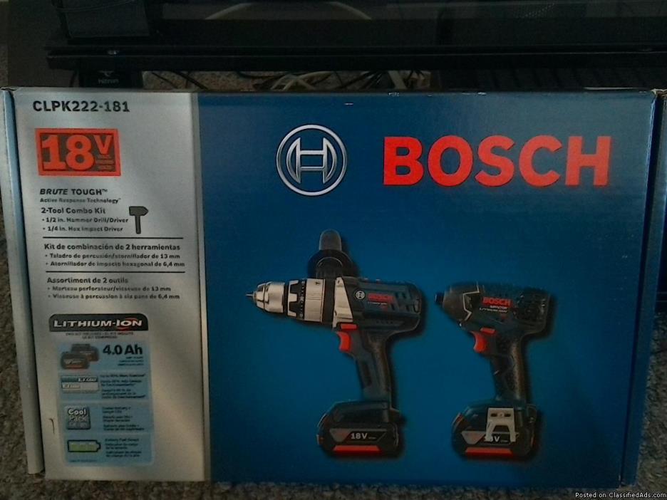 BOSCH 2-tool combo kit  CLPK222-181
