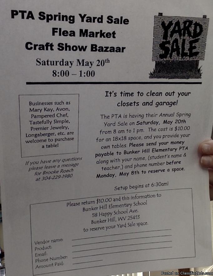 Spring Yard Sale/Craft Show