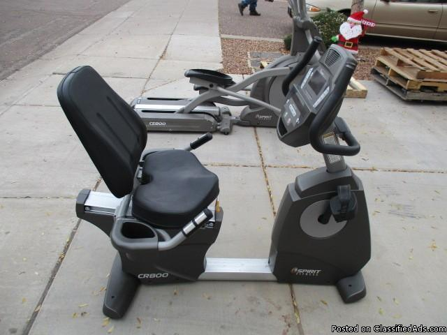 Spirit CR800 Commercial Recumbent Exercise Bike RTR#7011060-10