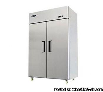 ATOSA TOP MOUNT TWO SOLID DOOR FREEZER
