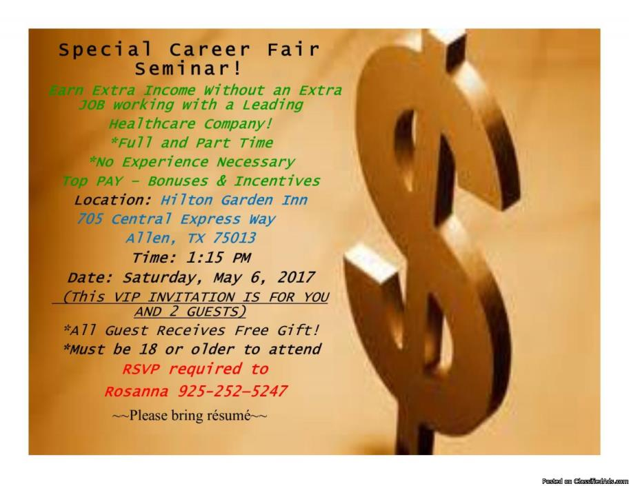 NO COST Career Fair Seminar