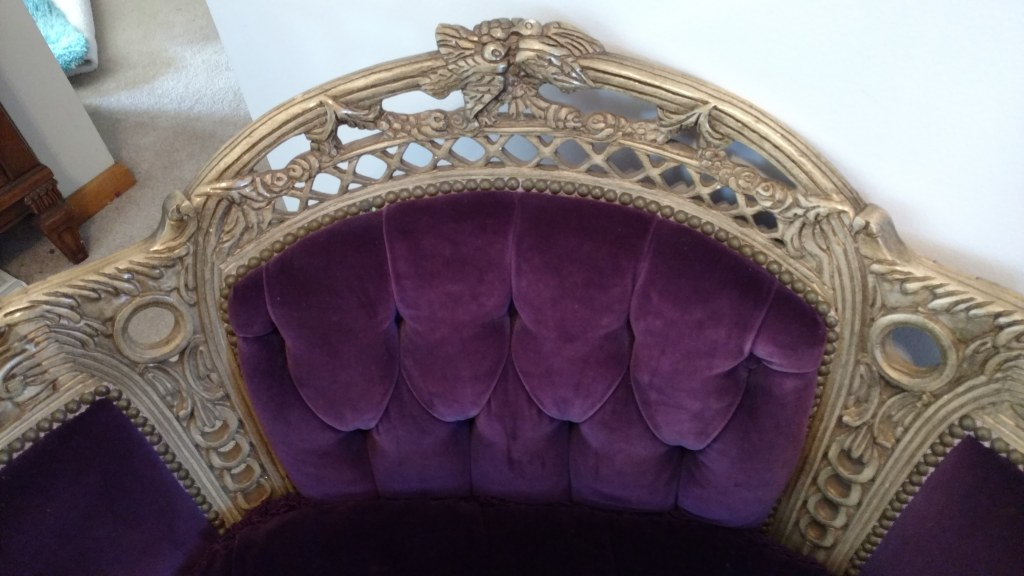 Antique Grape Velvet Fireside chairs