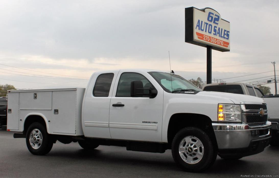 2012 Chevy Silverado 2500 Ext Cab Clean Southern Utility Diesel Truck #10667