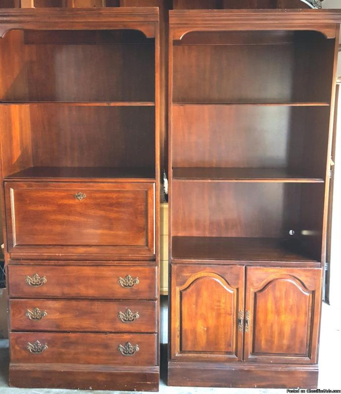 *ONLY $95 Wooden Shelf / Dresser / Storage Cabinet SET * Both for ONLY - $95