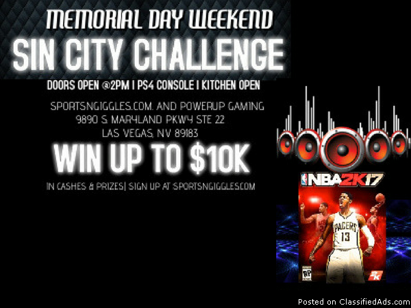 NBA2k17 Video Game Tournament - Sin City Challenge