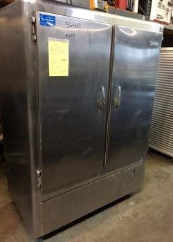 JORDON 2 DOOR STAINLESS STEEL REFRIGERATOR 3640