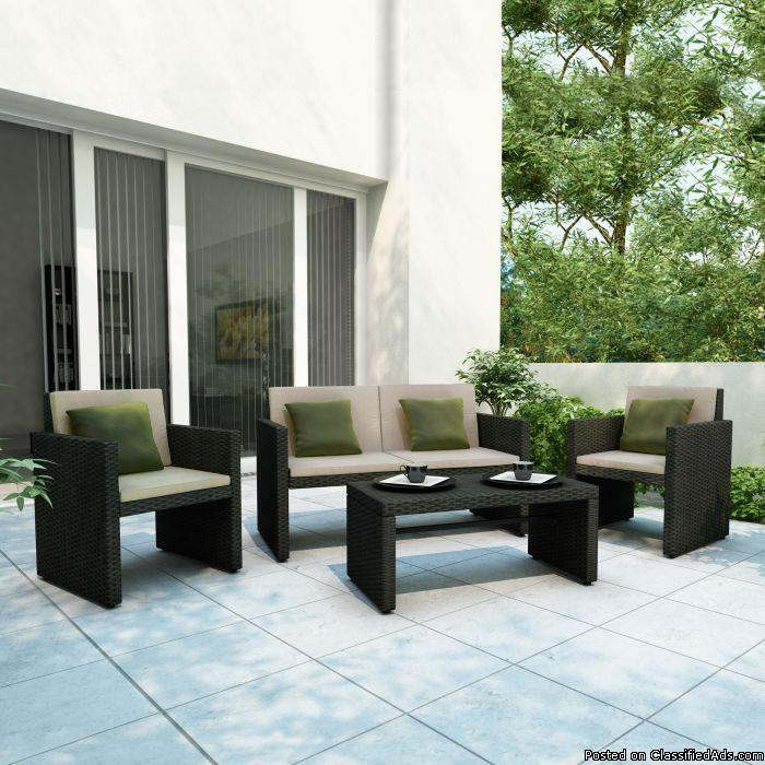 4pc Patio Lounge Set