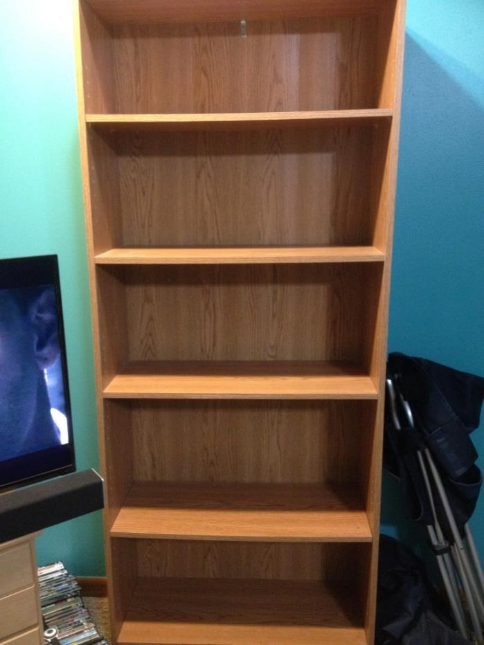 Wooden shelves gently used