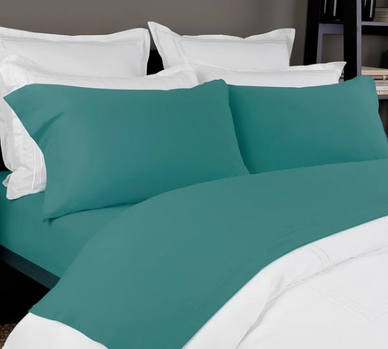 Jersey Sheet set In Teal Color