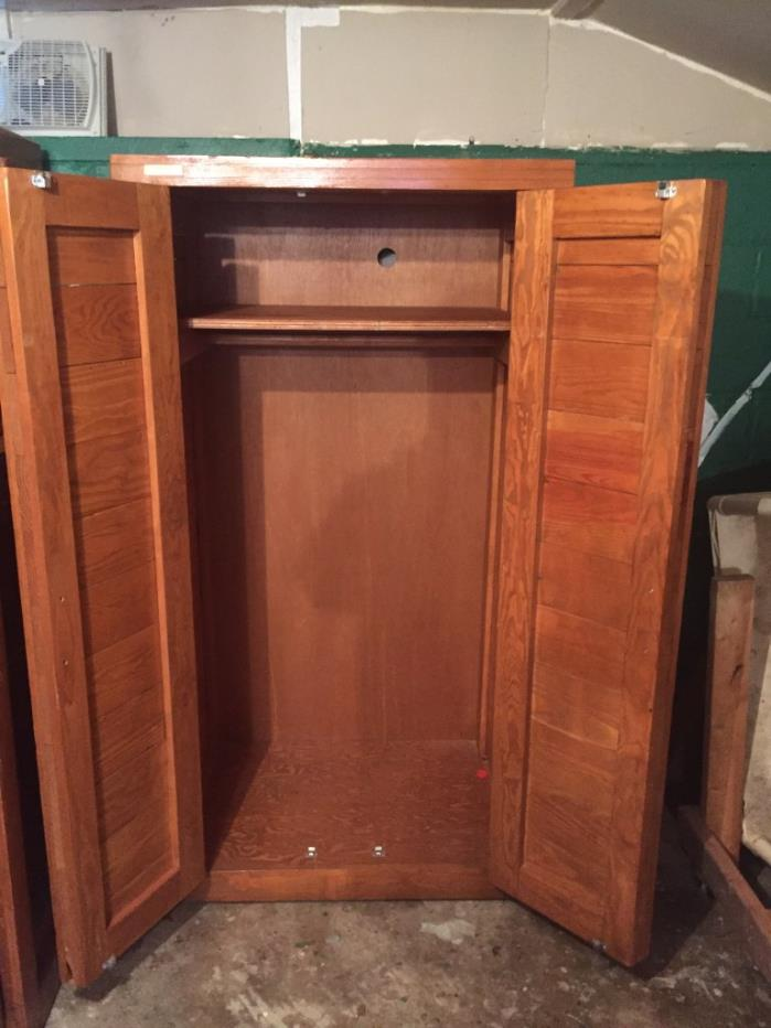 USED SOLID WOOD PINE ARMORIE