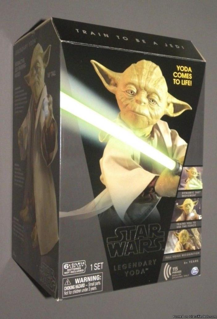 STAR WARS Legendary YODA Jedi Master Interactive Talking Collector Figure Disney