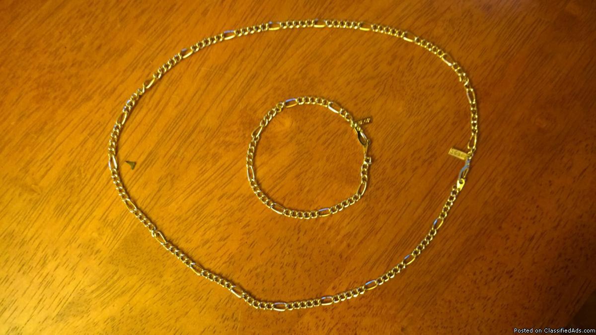 18K GP Necklace/Bracelet Sets (2)