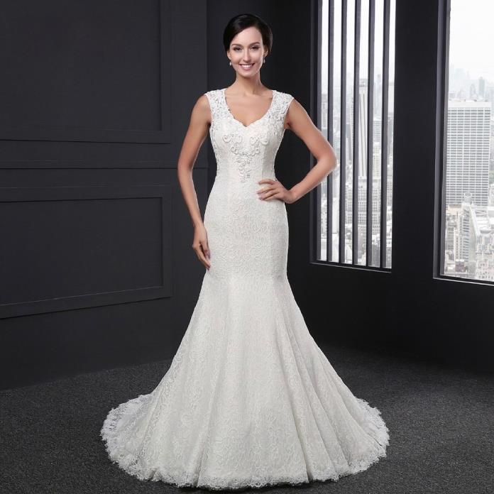 Allie's Mermaid Lace Wedding Gown