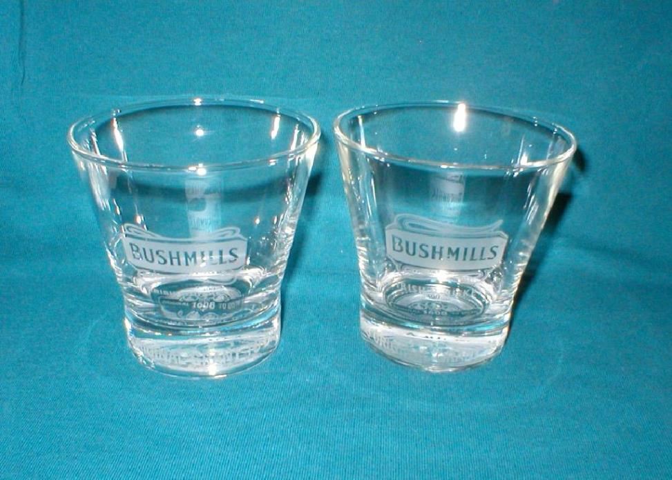 Bushmills Irish Whiskey Bar Glasses 400TH ANNIVERSARY (Two Glasses)