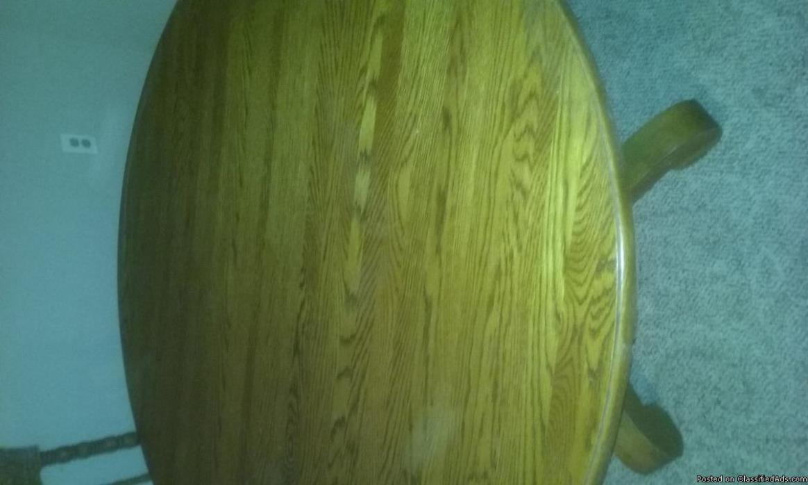 table with 4 chairs - oak