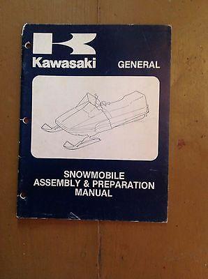 Kawasaki Snowmobile Manual General Assembly and prep