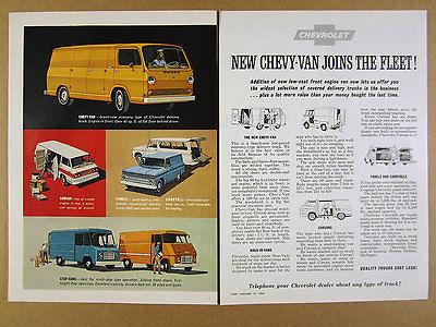 1964 Chevrolet Trucks Chevy-Van Corvan Panel Carryall Step-Vans vintage print Ad