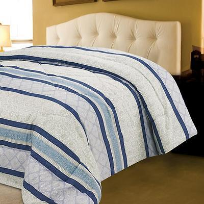 Microfiber Comforter Polyester Striped Pattern Machine Washable King Size