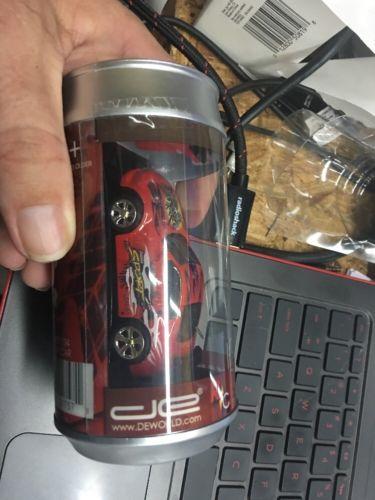 27 MHz DE World Coke Can Mini RC Radio Remote Control Race Car Racing Red!