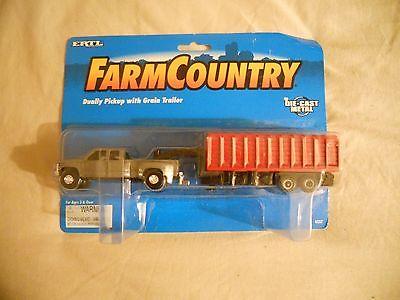 Ertl Farm Country Toy Grey Chevy GMC Pickup w/Grain Trailer Set MIP 1/64 Tractor