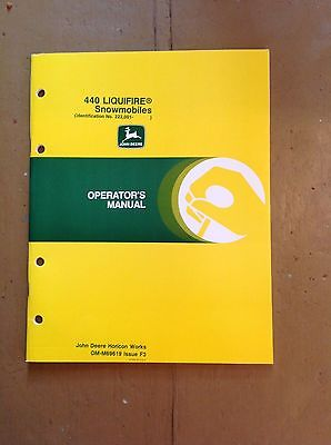 John Deere 440 Liquifire Snowmobile Manual NEW