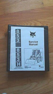 Bobcat 853, 853H OEM Melroe Loader Service Manual