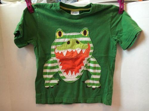 Mini Boden Green Gator T Shirt 5-6 Year