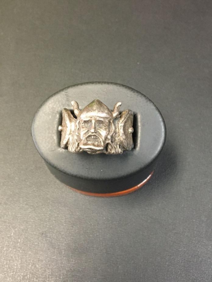 Vintage Sterling Silver Viking Ring